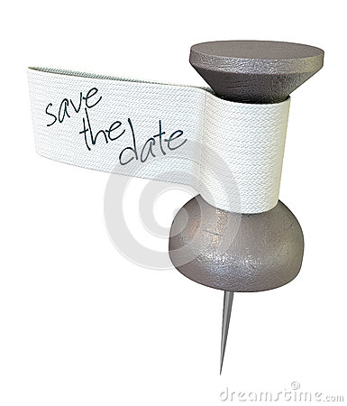 Save The Date Metal Thumbtack
