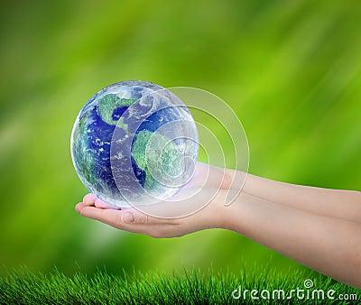 Save the Earth Cartoon Illustration