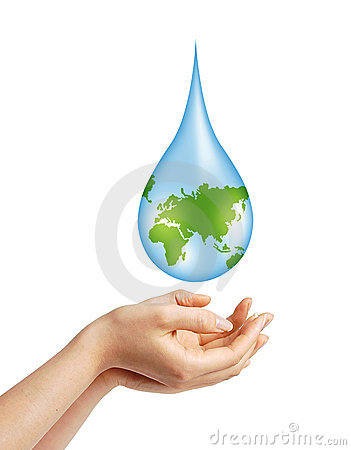 Free Save Earth/ Water Concept Royalty Free Stock Photo - 23126305