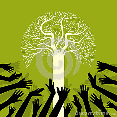Save environment save tree Vector Illustration