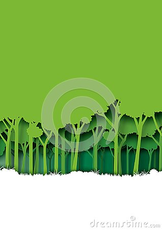 Free Save Eth Earth And Nature Landscape Concept Paper Art Style Desi Stock Photo - 111606840