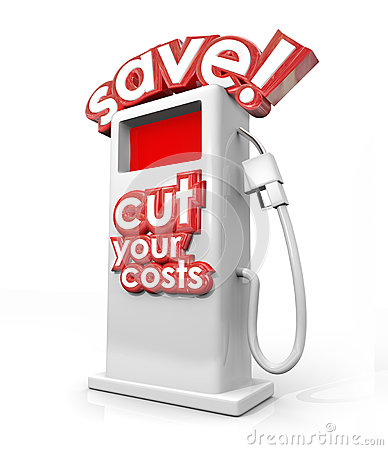 Free Save Fuel Gas Pump Filling Station Cut Your Costs Economy Budget Royalty Free Stock Images - 41368599