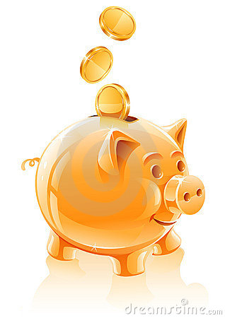 Free Save Money Concept With Piggy Bank Stock Images - 10561594