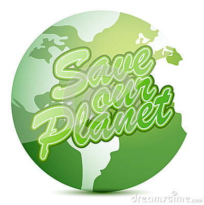 Save our planet globe