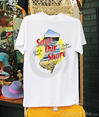 Save Our Shore Tee Shirt Editorial Image