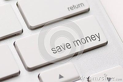 Save pieniądze guzika klucz