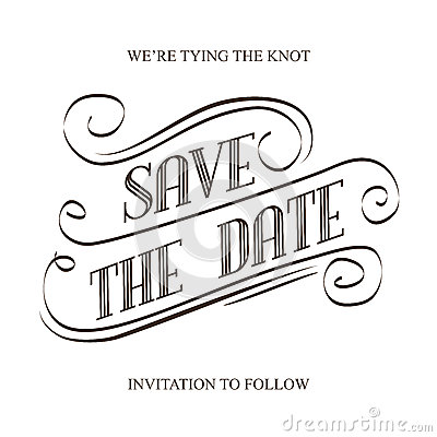Free Save The Date Stock Photography - 55024022