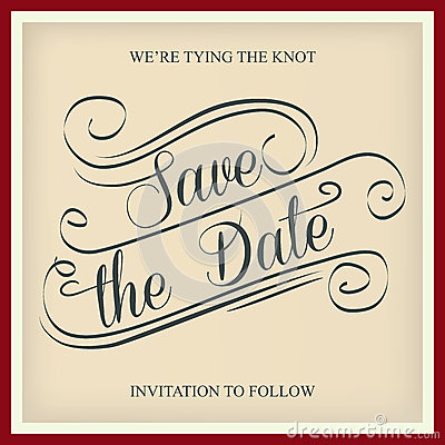 Free Save The Date Royalty Free Stock Photo - 55024745