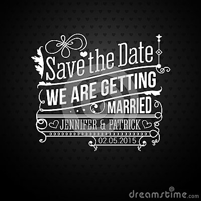 Free Save The Date For Personal Holiday. Wedding Invita Stock Image - 35412401