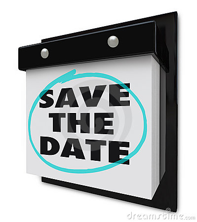 Free Save The Date - Wall Calendar Royalty Free Stock Images - 14957729