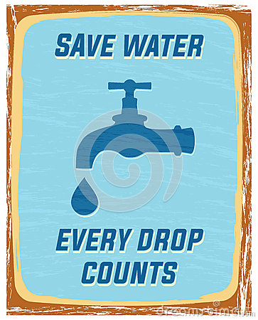 Save Water Stock Vector Image 49028871
