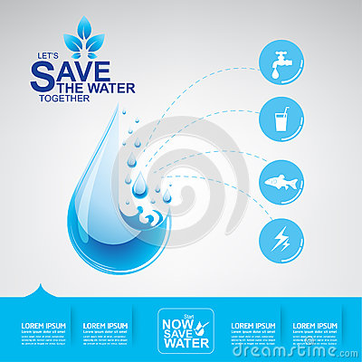 Free Save Water Vector Stock Images - 65755904