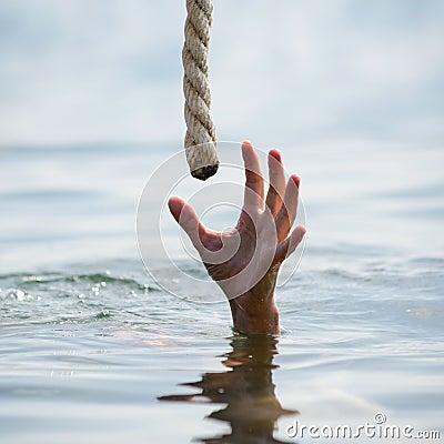 Free Saving A Drowning Man Royalty Free Stock Image - 33364386