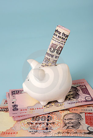 Saving money in Indian currency