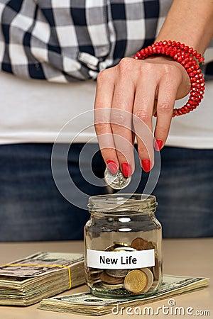 Saving money for new life