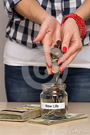 Saving money for new life