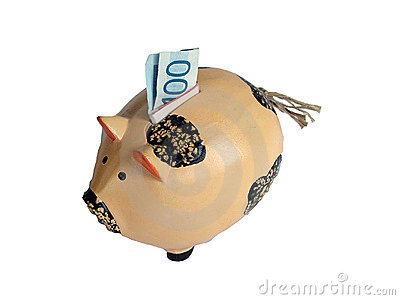 Saving money piggy bank