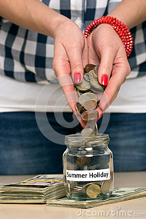 Saving money for summer holiday
