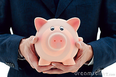 Saving Your Money In The Right Hands Stock Photo - Image: 24073520