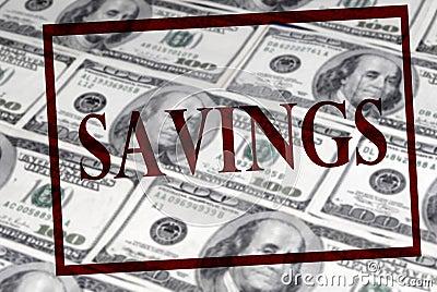 Savings of Cash