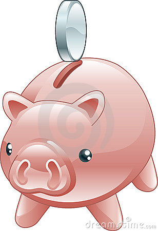 Savings Cute shiny piggy bank