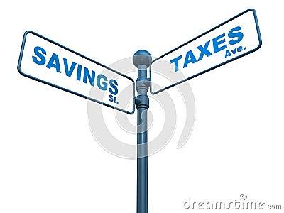 Savings and taxes