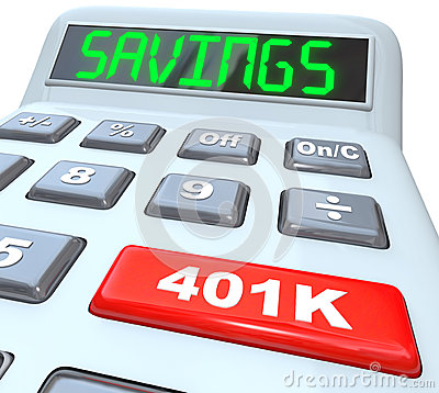 Savings Word Calculator 401K Button Retirement Future
