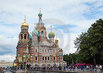 Savior on Blood Cathedral in St. Petersburg, Russia Editorial Photo