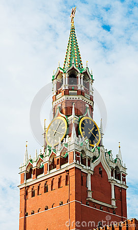 The Saviour (Spasskaya) Tower Of Moscow Kremlin Royalty Free Stock