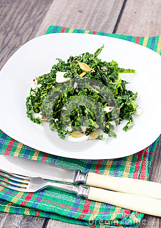 Savoy cabbage and feta salad