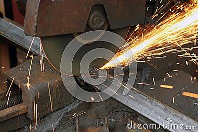 Sawing metal