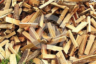 Sawn and split firewood