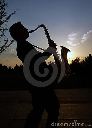 Free Sax At Sunset Royalty Free Stock Image - 719696