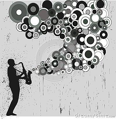 Sax player grunge