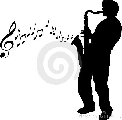 Sax player illustration