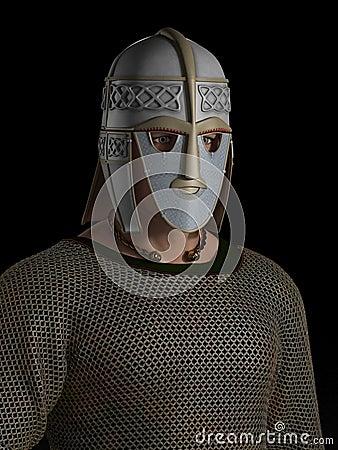 Saxon Warrior Chieftain Portrait