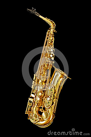 Saxophone  on Black