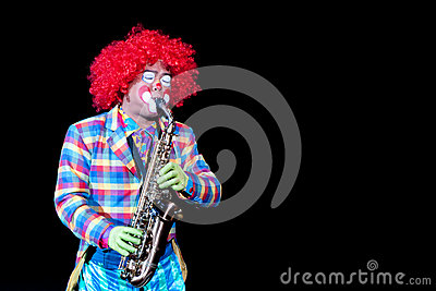 Saxophone Joker Editorial Photography