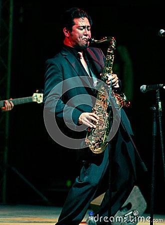 Free Saxophone Man Stock Photos - 98041763