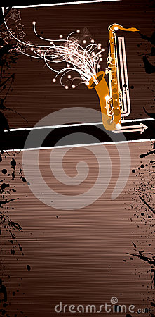 Saxophone music background