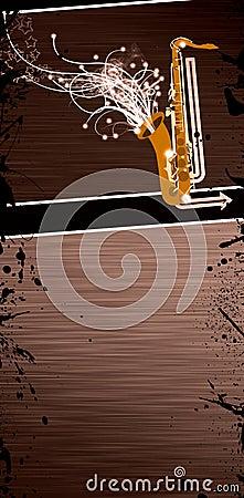 Saxophone music background