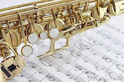 Saxophone and note part