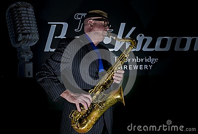 Saxophone Player Editorial Image