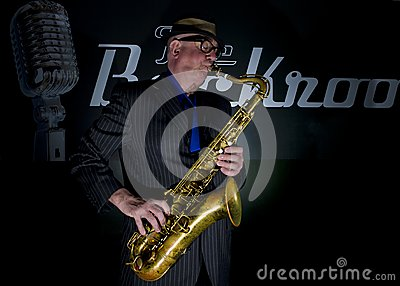 Saxophone Player Editorial Photography