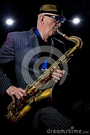 Saxophone Player Editorial Stock Photo