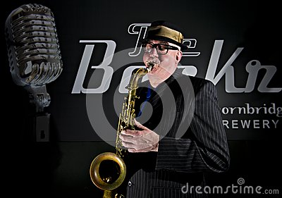 Saxophone Player Editorial Stock Image