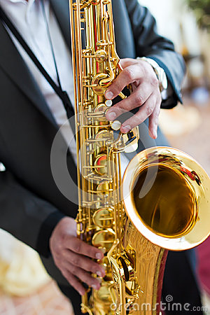 Free Saxophone Player Royalty Free Stock Photography - 40937787