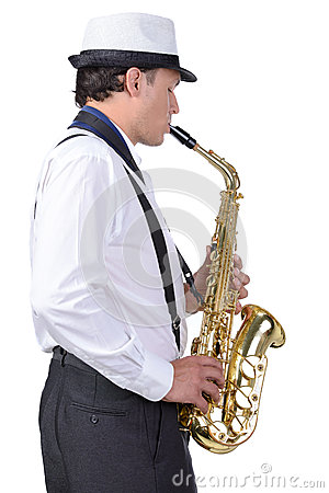 Free Saxophone Player Royalty Free Stock Photography - 44744107