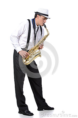 Free Saxophone Player Stock Image - 44744141