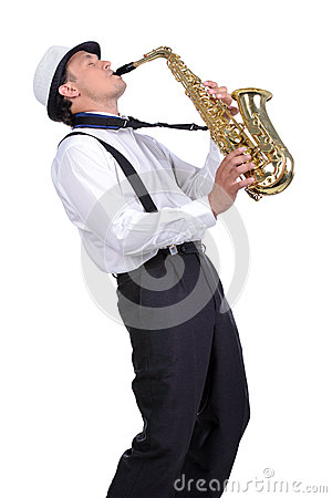 Free Saxophone Player Stock Photos - 44744143